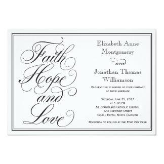 Tarjeta Invitación del boda del amor de la esperanza de la