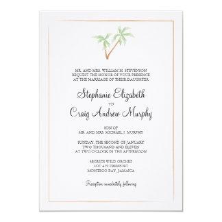 Invitación del boda del árbol de la acuarela