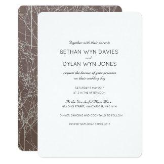 """Invitación del boda del """"árbol"""" de la trufa"""