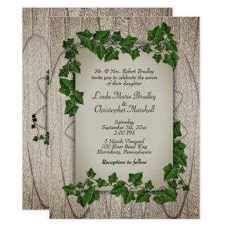 Invitación del boda del arbolado