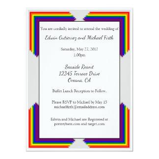 Invitación del boda del arco iris LGBT