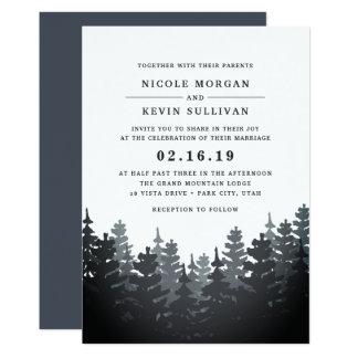Invitación del boda del bosque del invierno