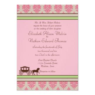 Invitación del boda del caballo y del carro