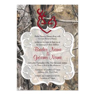 Invitación del boda del camuflaje