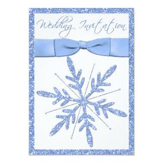 Invitación del boda del copo de nieve de los
