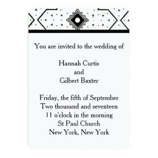 Invitación del boda del diseño francés