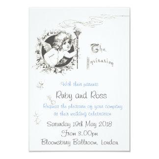 Invitación del boda del ejemplo del Victorian del