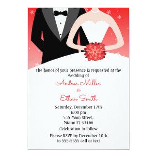 Invitación del boda del invierno del novio de la