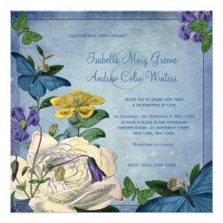 Invitación del boda del jardín de la mariposa