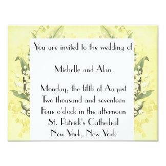 Invitación del boda del lirio de los valles