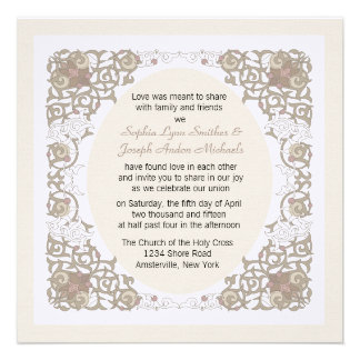 Invitación del boda del marco del infinito