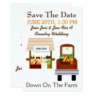 Invitación del boda del país