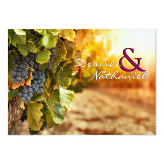 Invitación del boda del país vinícola