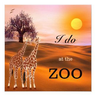 Invitación del boda del parque zoológico del