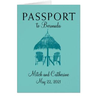 Invitación del boda del pasaporte de Bermudas de