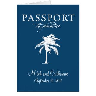Invitación del boda del pasaporte de Samoa