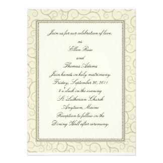 Invitación del boda del remolino