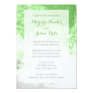 Invitación del boda del remolino de la acuarela -