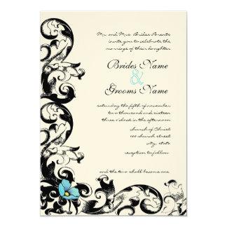 Invitación del boda del remolino de la amapola de