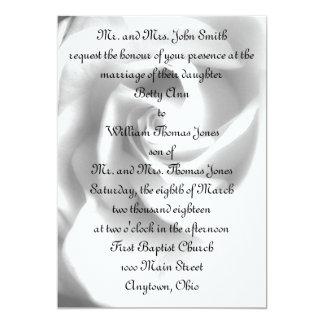 Invitación del boda del rosa negro y blanco -