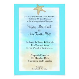 Invitación del boda del Seashell de las estrellas Invitación 12,7 X 17,8 Cm
