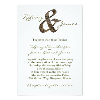 """Invitación del boda del signo """"&"""" de Camo"""