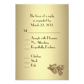 Invitación del boda del teatro