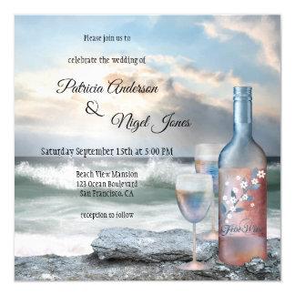 Invitación del boda del tema de la playa o del