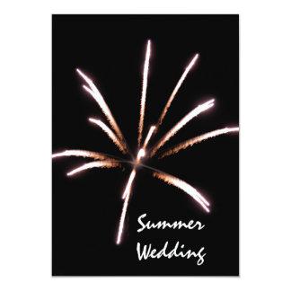 Invitación del boda del verano de los fuegos