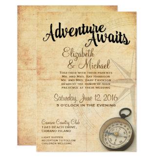 Invitación del boda del viaje de la aventura del