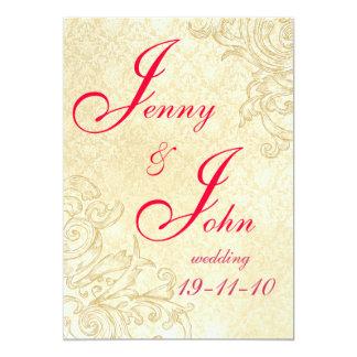 Invitación del boda del vintage