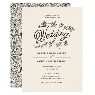 Invitación del boda del Wildflower