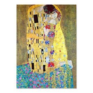Invitación del boda; El beso de Gustavo Klimt
