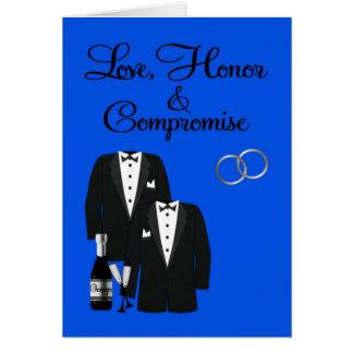 Invitación del boda, gay, tarjeta de felicitación