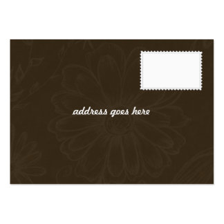 Invitación del boda - gracias cardar tarjetas de visita