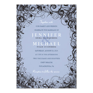 Invitación del boda judío de los ESPIRALES y de