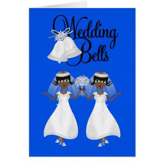 Invitación del boda lesbiana tarjeta de felicita