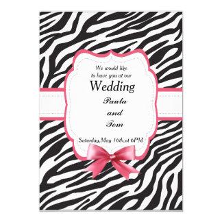Invitación del boda, modelo de la cebra
