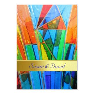 Invitación del boda--Naranja del vidrio de Murano