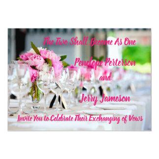 Tarjeta Invitación del boda y de la recepción