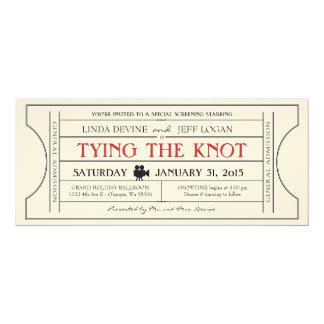 Invitación del boleto de la película del vintage