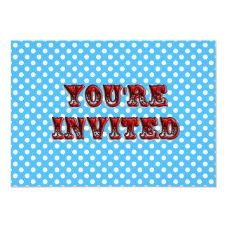 Invitación del boleto del circo invitación 12,7 x 17,8 cm