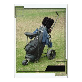Invitación del bolso del carro de golf invitación 12,7 x 17,8 cm
