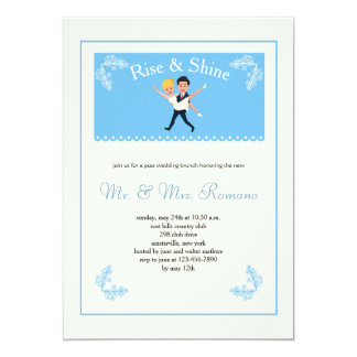Invitación del brunch del boda del poste de los