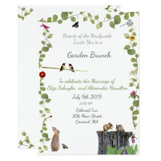 Invitación del brunch del jardín