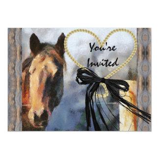 Invitación del caballo del país