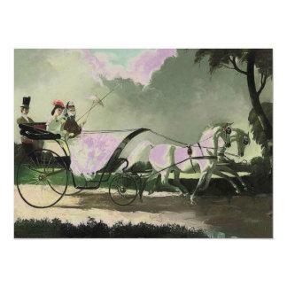Invitación del caballo y del carro del vintage