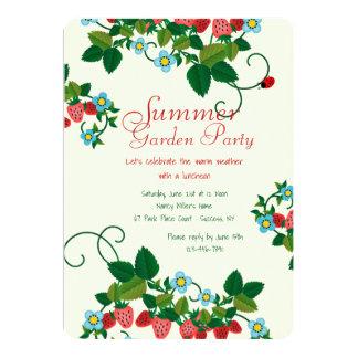 Invitación del campo de la fresa