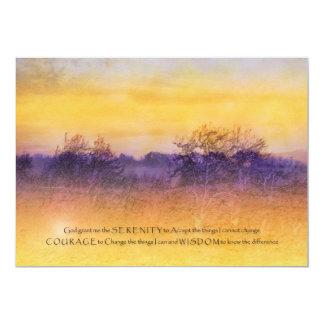 Invitación del campo del naranja y de la púrpura