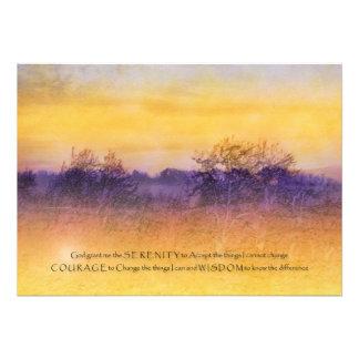 Invitación del campo del naranja y de la púrpura d